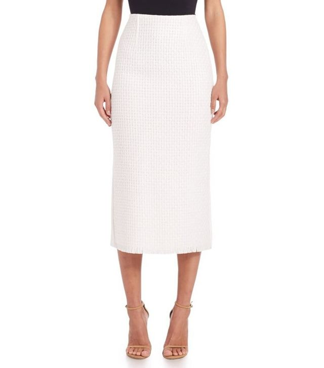 Roland Mouret Salway Lattice-Weave Pencil Skirt