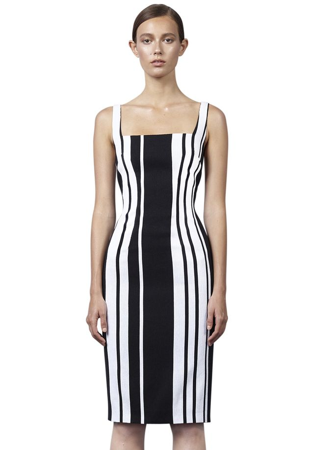 By Johnny Vertigo Stripe Pencil Dress
