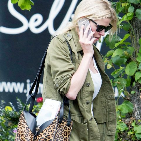 best designer bags 2016: Lara Stone with the Loewe Hammock bag