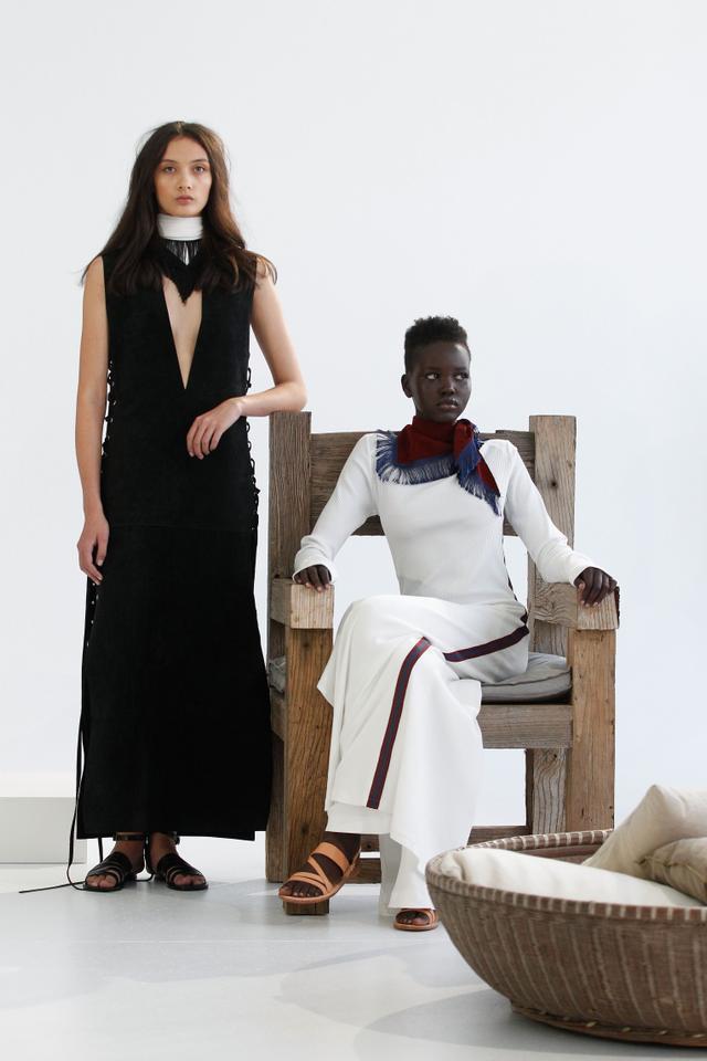 4. Black lace-up dress