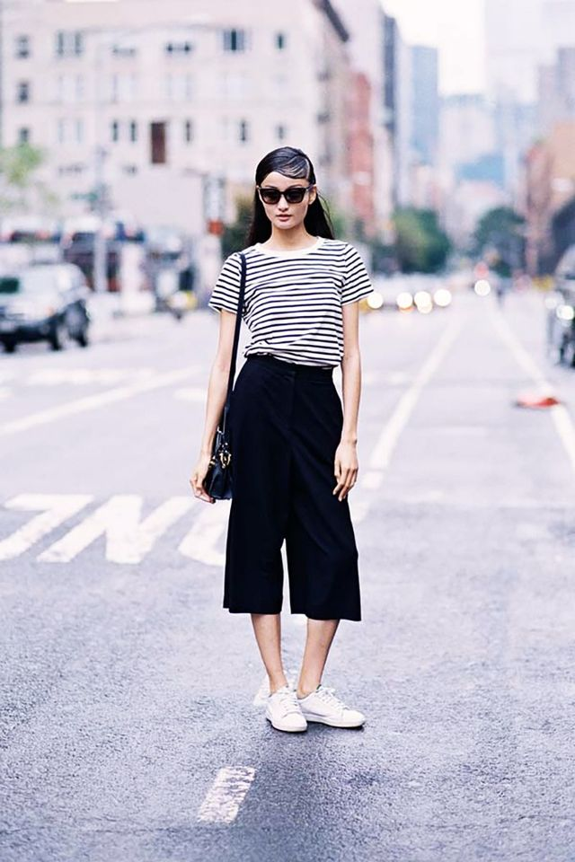 Striped Tee + Culottes