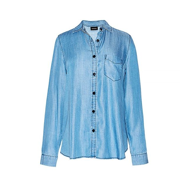 Who What Wear Frayed Hem Shirt