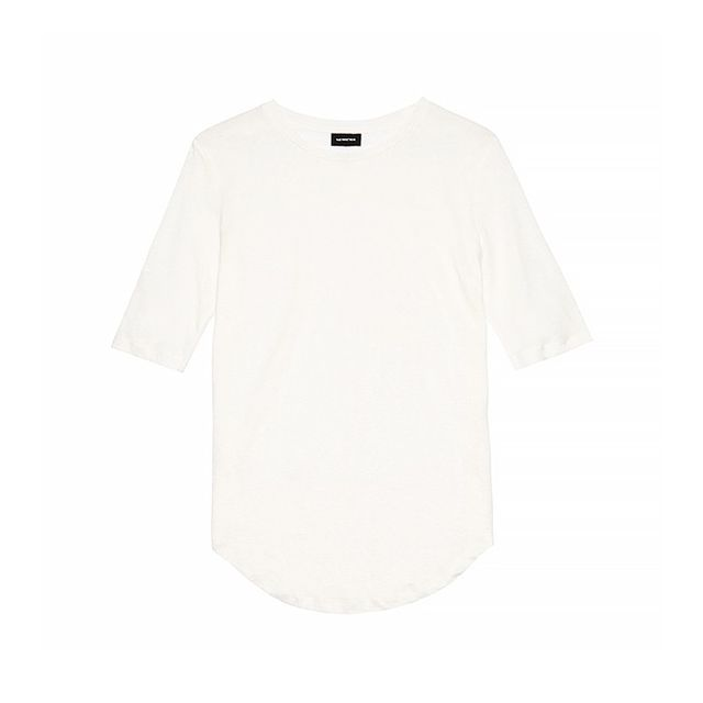 Who What Wear Basic Linen Tee