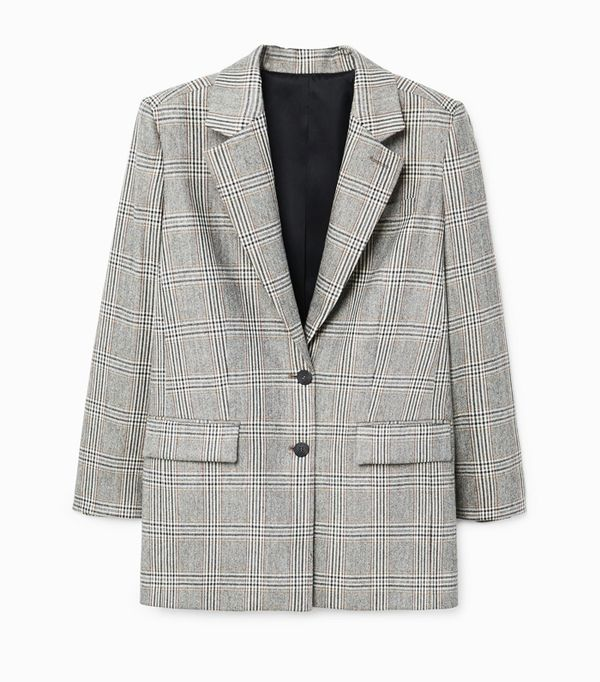 Weekend Outfit Ideas: Mango Prince of Wales Wool-Blend Blazer