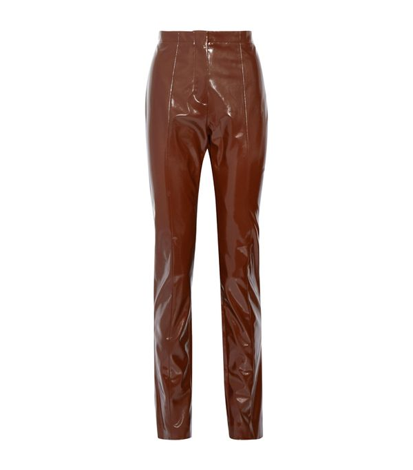 Weekend Outfit Ideas: Acne Studios Tugi Vinyl Slim-Leg Pants
