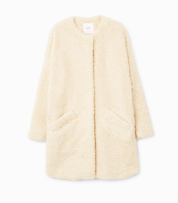 Weekend Outfit Ideas: Mango Faux Shearling Coat