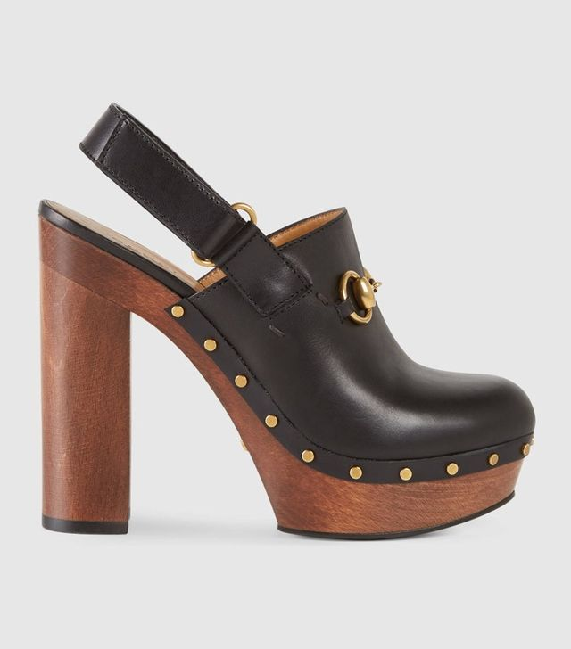 Gucci Amstel Leather Clogs