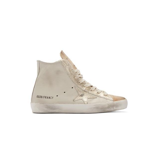Golden Goose Tan Francy High-Top Sneakers
