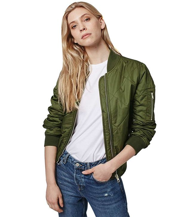 Topshop Quilted MA1 Bomber Jacket