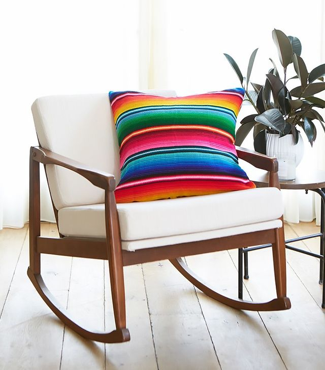 Little Market Striped Woven Pillow in Chichi