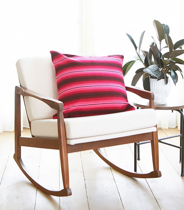 Little Market Striped Woven Pillow in Flores
