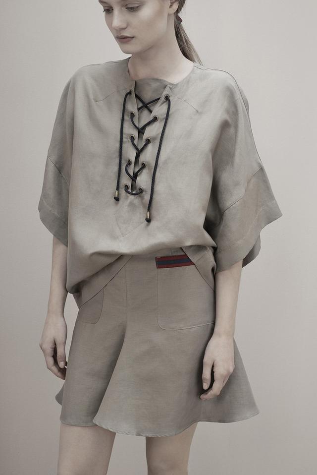 Albus Lumen Fluted Short Skirt
