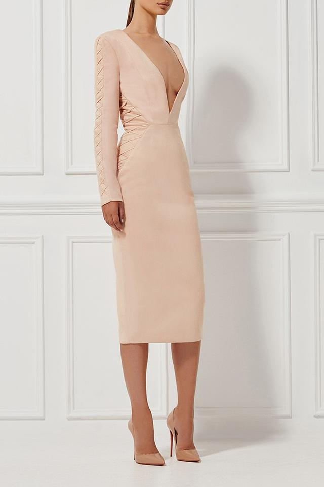Misha Collection Casadeia Blush Dress