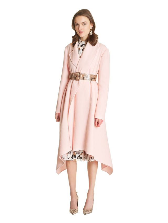 Oscar de la Renta Brushed Wool Coat