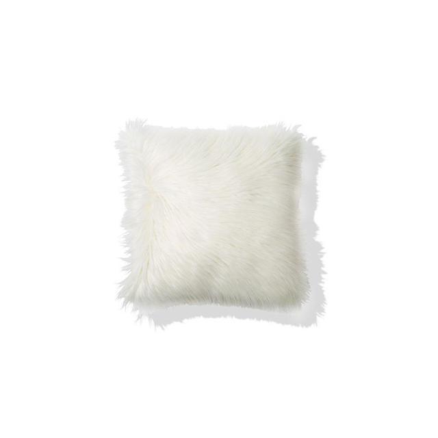 Kmart Zsa Zsa Faux Fur Cushion - White