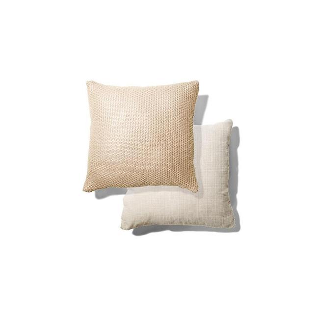 Kmart Knitted Cushion - Metallic