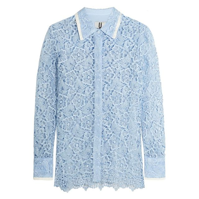 Topshop Unique Taplow Lace Shirt