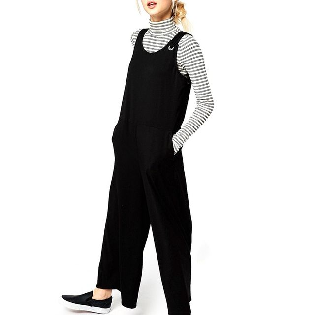 Monki Sleeveless Wide Leg Jumpsuit