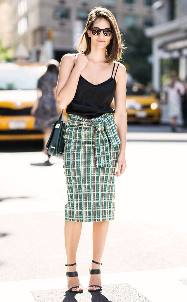 3. Camisole + Pencil Skirt