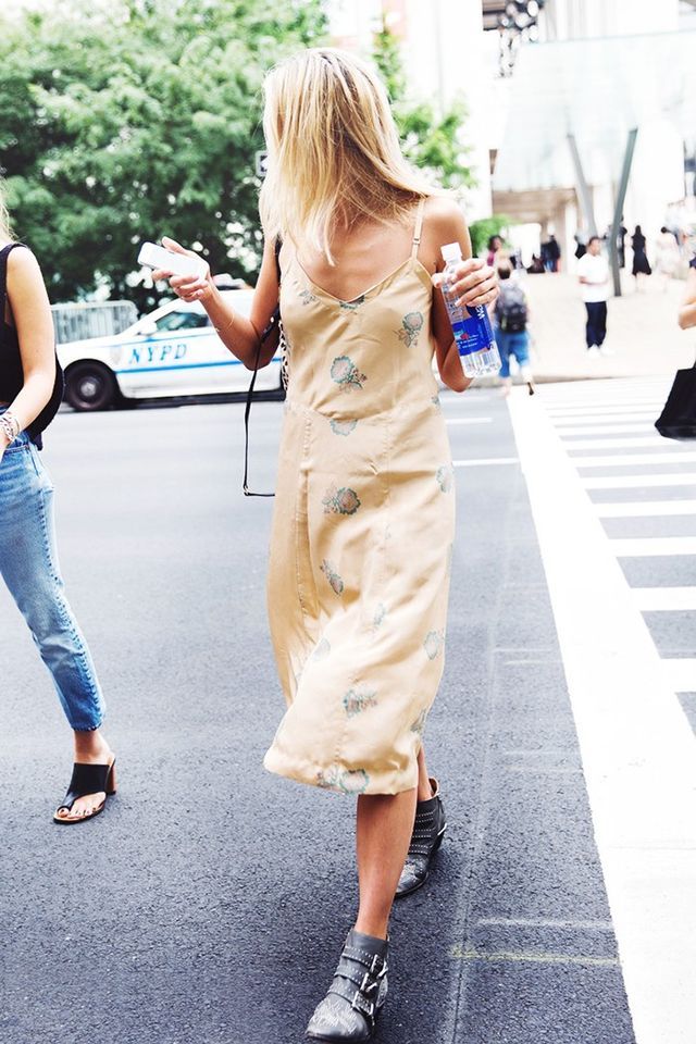 5. Slip Dress + Ankle Boots