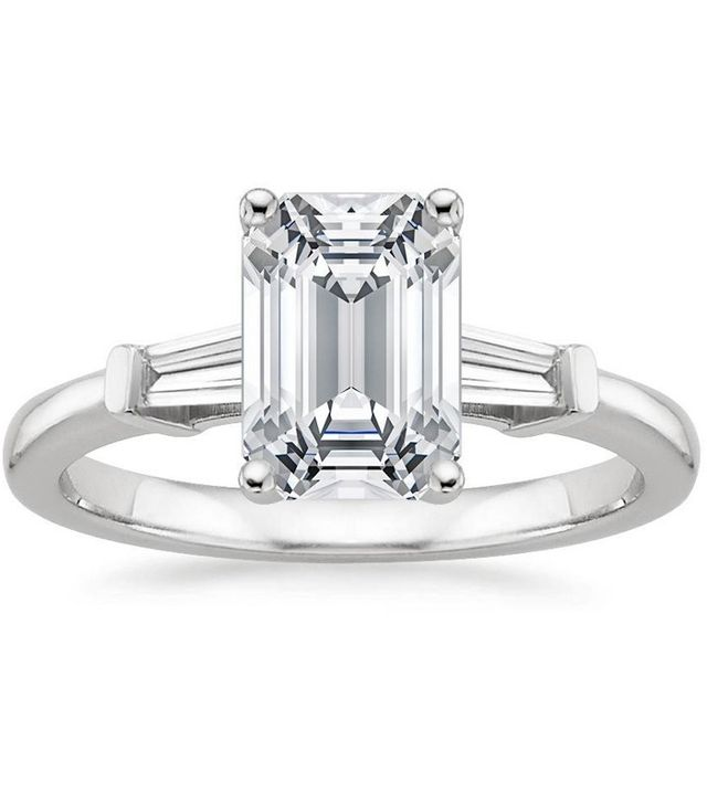 Brilliant Earth Platinum Tapered Baguette Diamond Ring Setting