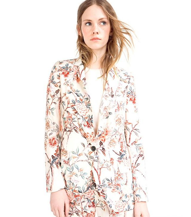 Zara Long Printed Jacket