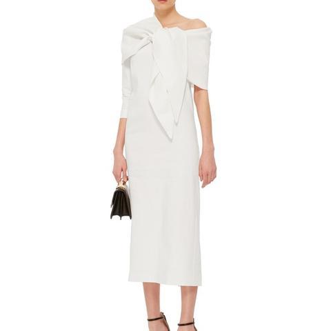 Linen One Sleeved Knot Dress