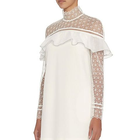 Ruffled Lace Mini Dress