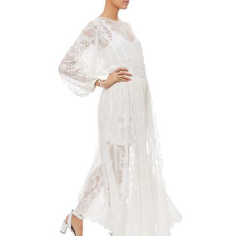 Ivory Embroidered Silk Alchemy Dress