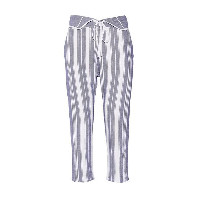 Koza Brooke Striped Cotton Tapered Pants