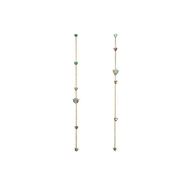 Wwake Linear Chain Earrings
