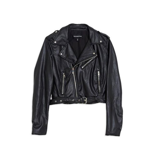 Who What Wear Minimal Moto Jacket
