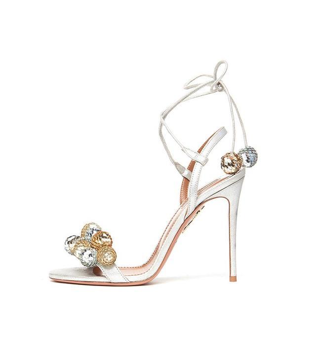 Aquazzura Disco Thing Sequin-Embellished Sandal