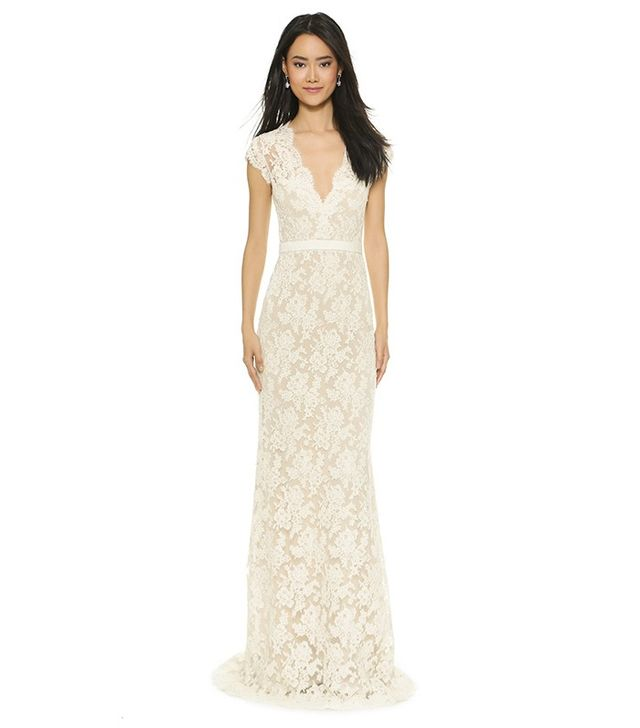 Reem Acra I'm Married Lace Gown