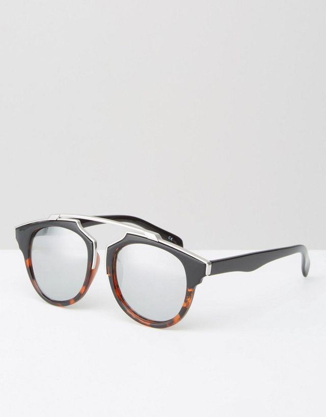 ASOS Jeepers Peepers Tortoiseshell Sunglasses with Brow Bar
