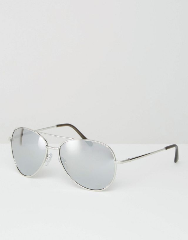 Misguided Missguided Mirrored Aviator Sunglasses