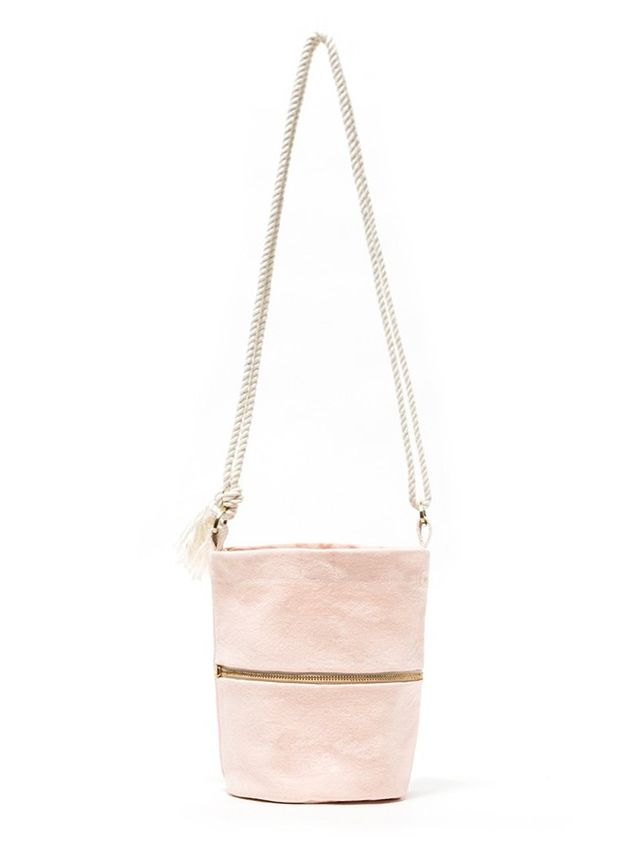Lotfi Mini Bucket Bag in Dusty Pink