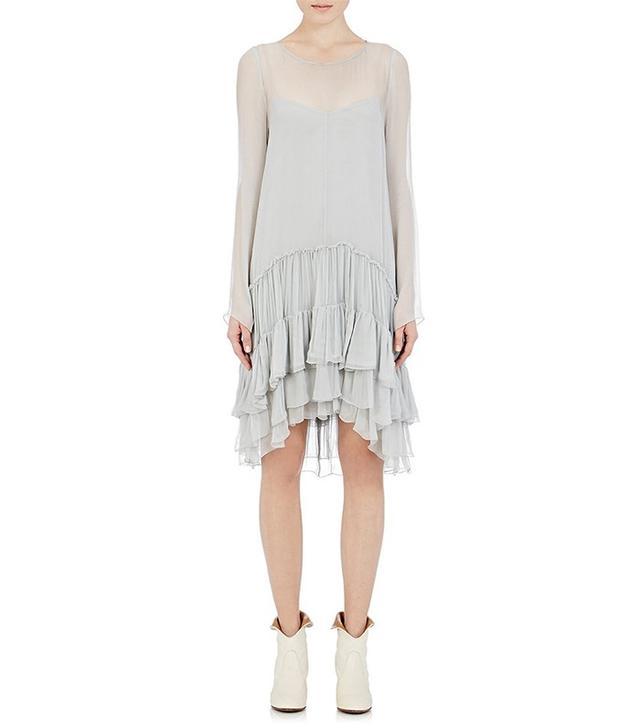 Chloé Crinkled Chiffon Dress