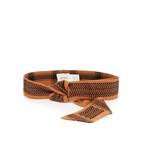 Scarf-Jacquard Cotton Belt