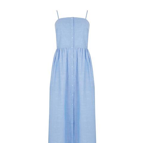 Cotton Cami Midi Dress