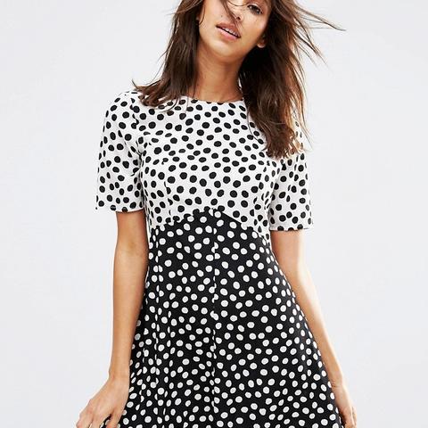 Spot Mix & Match Dress