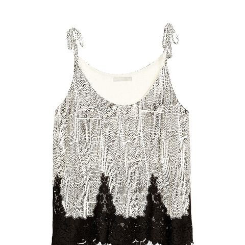 Strap Top With Lace