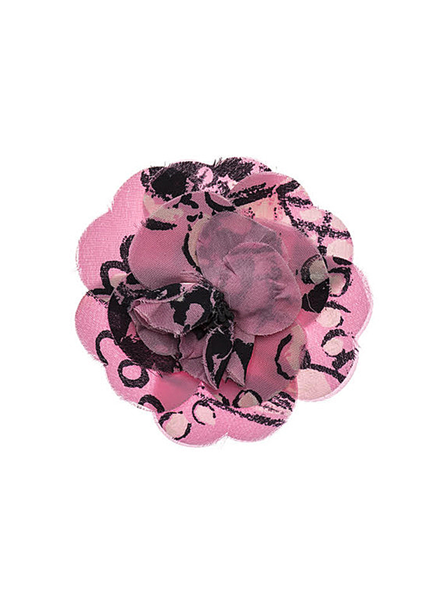 Chanel Camellia Pink Flower Brooch