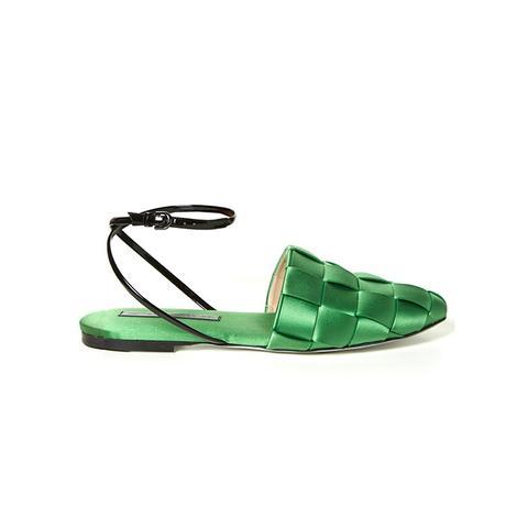 Satin Flat Sandals