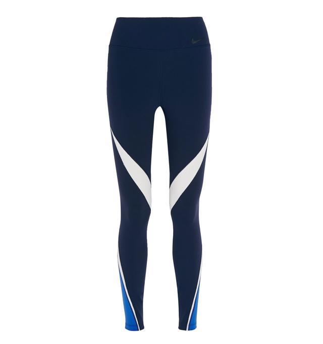 Nike Legendary Mesh-Paneled Stretch-Jersey Leggings