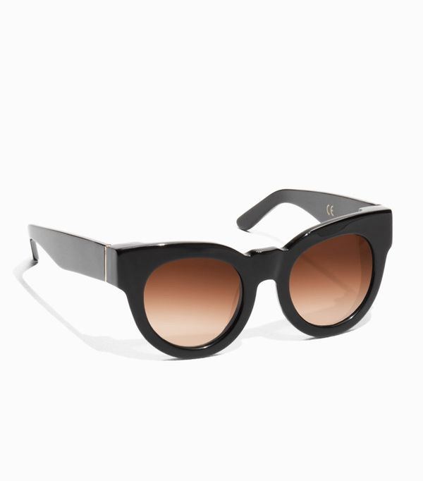 How to Wear Black In Summer: & Other Stories Chunky Frame Sunglasses