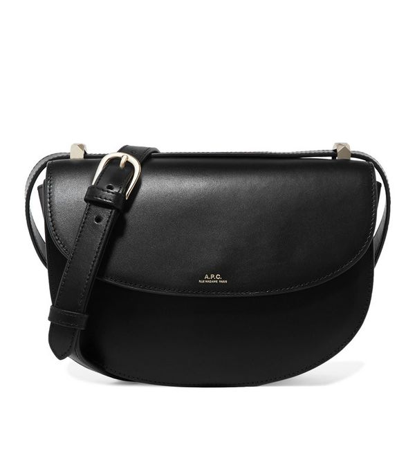 How to Wear Black In Summer: A.P.C. Geneve Leather Shoulder Bag