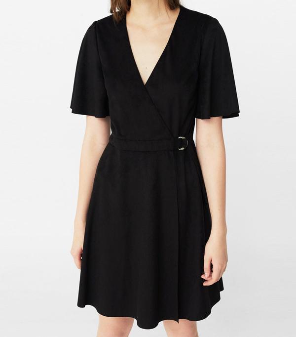 How to Wear Black In Summer: Mango Wrap Dress