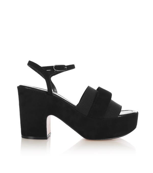 How to Wear Black In Summer: Robert Clergerie Etore Suede Platform Sandals