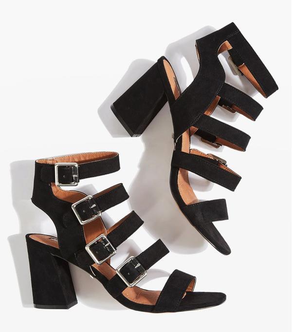 How to Wear Black In Summer: Natasha Multi Buckle Heels